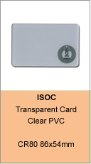transparent RFID card