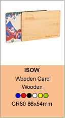 wooden NFC cards