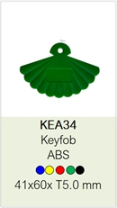 rfid keyfob fan shape