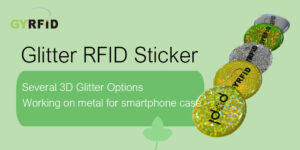 Dot NFC Sticker, Glittering NFC Sticker, Epoxy NFC sticker, 3D RFID Sticker